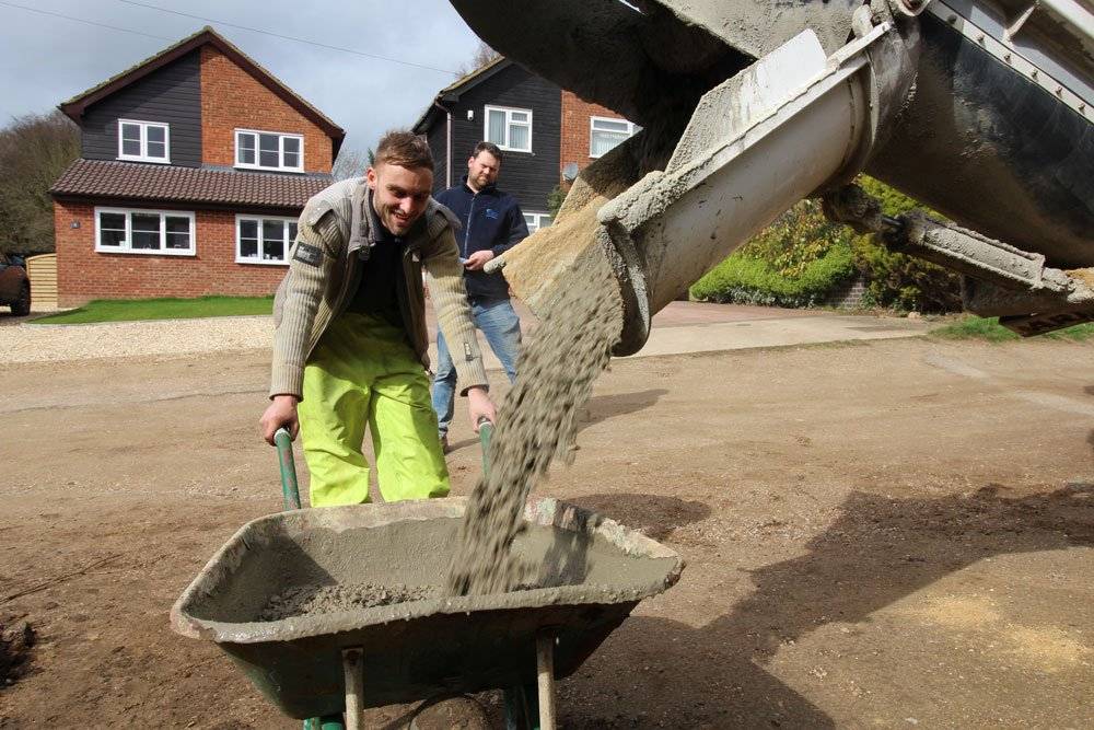 Mixed on site concrete Hitchin