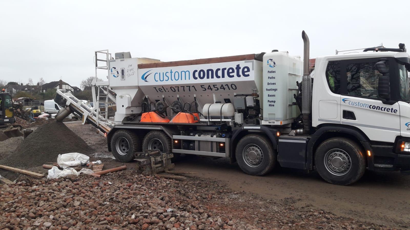 concrete truck milton keynes
