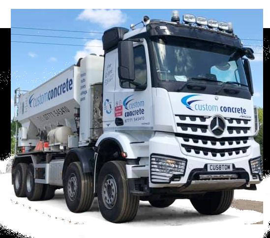 custom concrete lorry in sandy