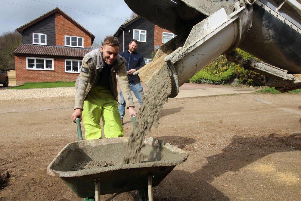 site mixed concrete sandy